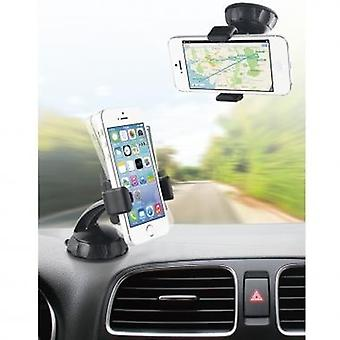 Bundle Muvit car holder 360 °, for windscreen fitting incl. micro-USB car charger