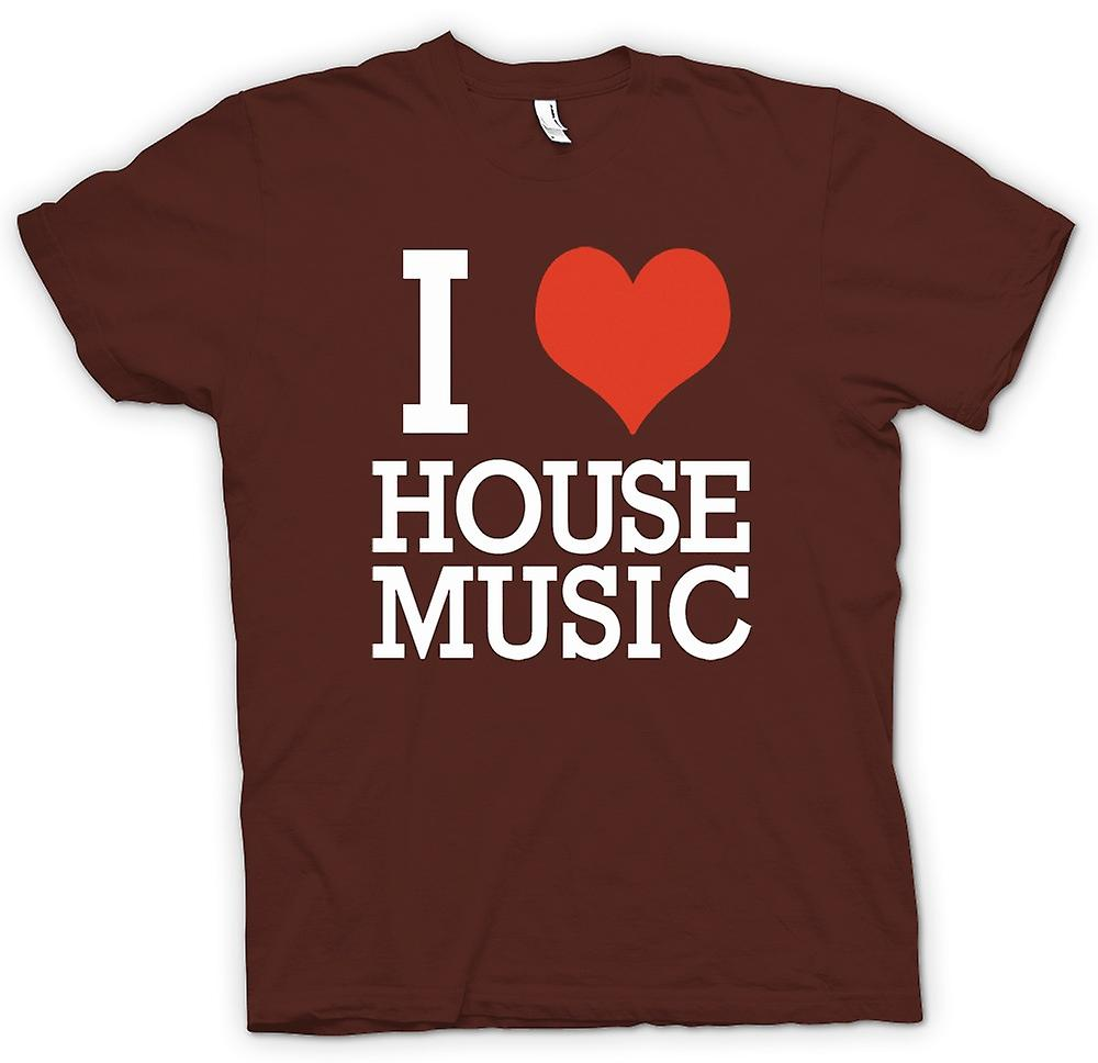 Mens T-shirt - I Love Heart House Music - DJ