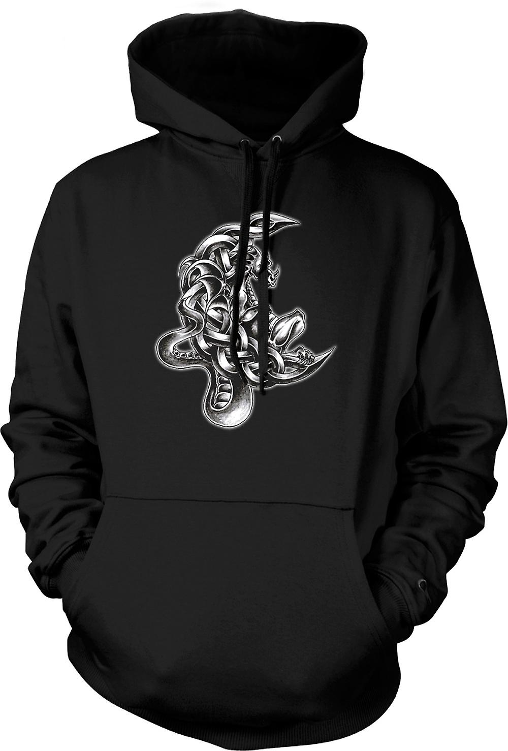 Mens Hoodie - tatouage de dragon - Esquisse
