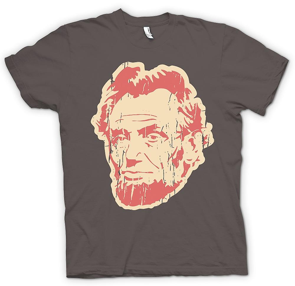 Womens T-shirt - Abraham Lincoln - Pop Art-Gesicht