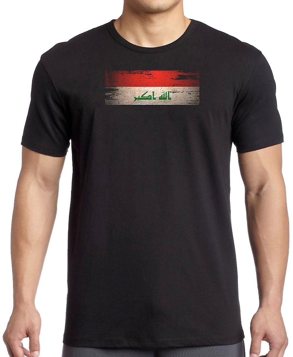Iracheni Iraq Grunge Flag T Shirt