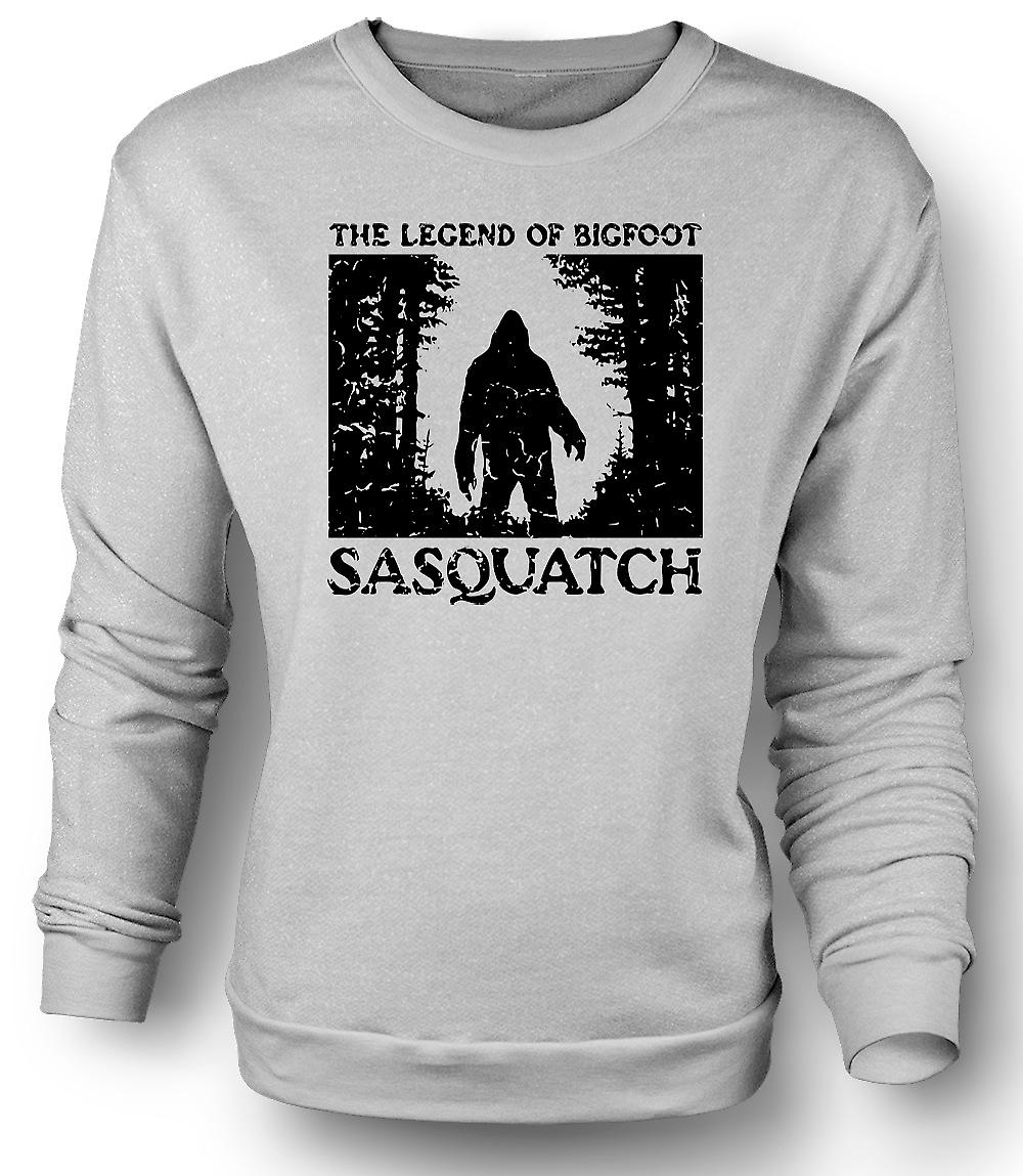 Mens Sweatshirt Sasquatch Yeti Bigfoot observation - Kryptozoologi