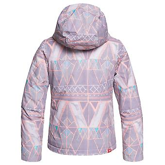 Roxy Minimal Grey-Mosaic Jetty Girls Snowboarding Jacket