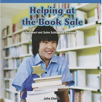Helping at the Book Sale