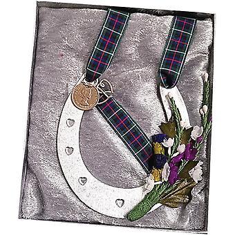 Craftilydunn Hochzeit Horse Shoe Box grün Tartan
