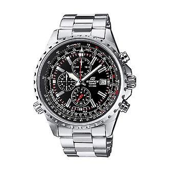 CASIO watch chronograph quartz men with stainless steel strap EF-527D-1av