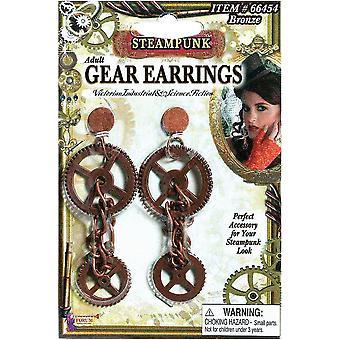 Steampunk Style Gear Earrings
