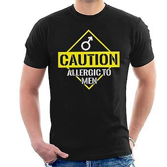 Anty alergiczne ostrożność męskie Koszulka
