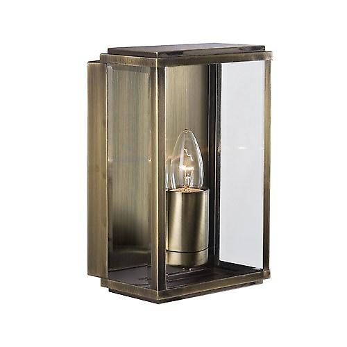 Searchlight 8204AB Outdoor Rectangular Box Traditional Brass Wall Light IP44