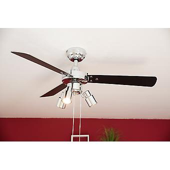 Ceiling fan Cyrus Chrome with lights 107cm / 42