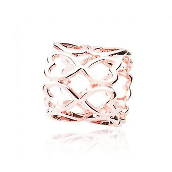 Intrigue Womens/Ladies Heart Scarf Ring