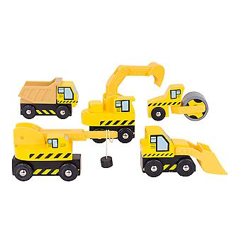Bigjigs Rail Wooden Site Vehicle Car Construction Pack Accessory Play Set