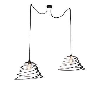 QAZQA moderni riipus lamppu 2 50cm kierre sävy-Scroll