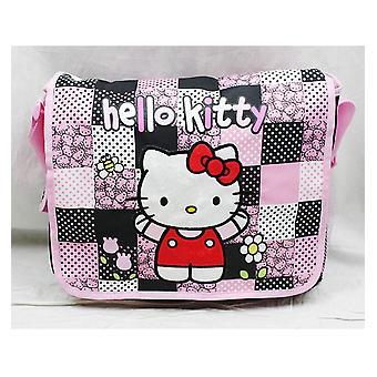 Messenger Bag - Hello Kitty - Pink/Red Box New School Book Bag 82519