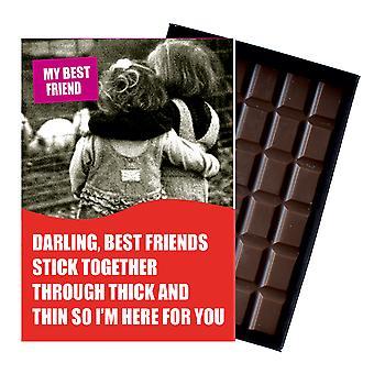 Funny födelsedagspresent för kvinnor vän flickvän boxed choklad gratulationskort närvarande CDL143