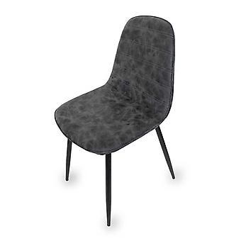 Esszimmerstuhl Stuhl 4er Set Fynn vintage grau mit Steppung 10790