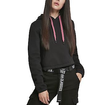 Urban Classics Ladies - Contrast Drawstring Hoody black