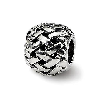 925 Sterling hopea antiikki viimeistely heijastukset Basketkudos Bali helmi charmia