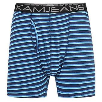 Kam Jeanswear Twin Pack Stripe Boxers