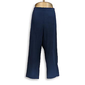 Isaac Mizrahi Live! Women's Plus Pants 24/7 Stretch Crop Blue A351754