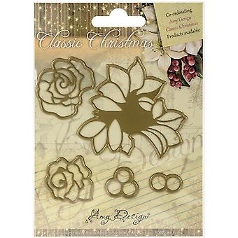 Find It Trading Amy Design Classic Christmas Die-Roses ADD10016