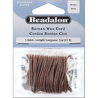 Korean Wax Cord 1.5Mm 7 Yards Pkg Brown 138S018