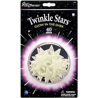 Glow In The Dark Pack Twinkle Stars 40 Pkg Glow 19472