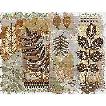 Abstractions Leaves Counted Cross Stitch Kit 14
