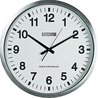 Reloj de pared radio Eurochron 56866 8765 c 4 507 x 63 mm plata