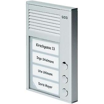 Door intercom Corded Complete kit Auerswald 90636 3 flat building Silver