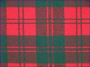 Erskine Red/Green, Modern - Pure Wool Tartan