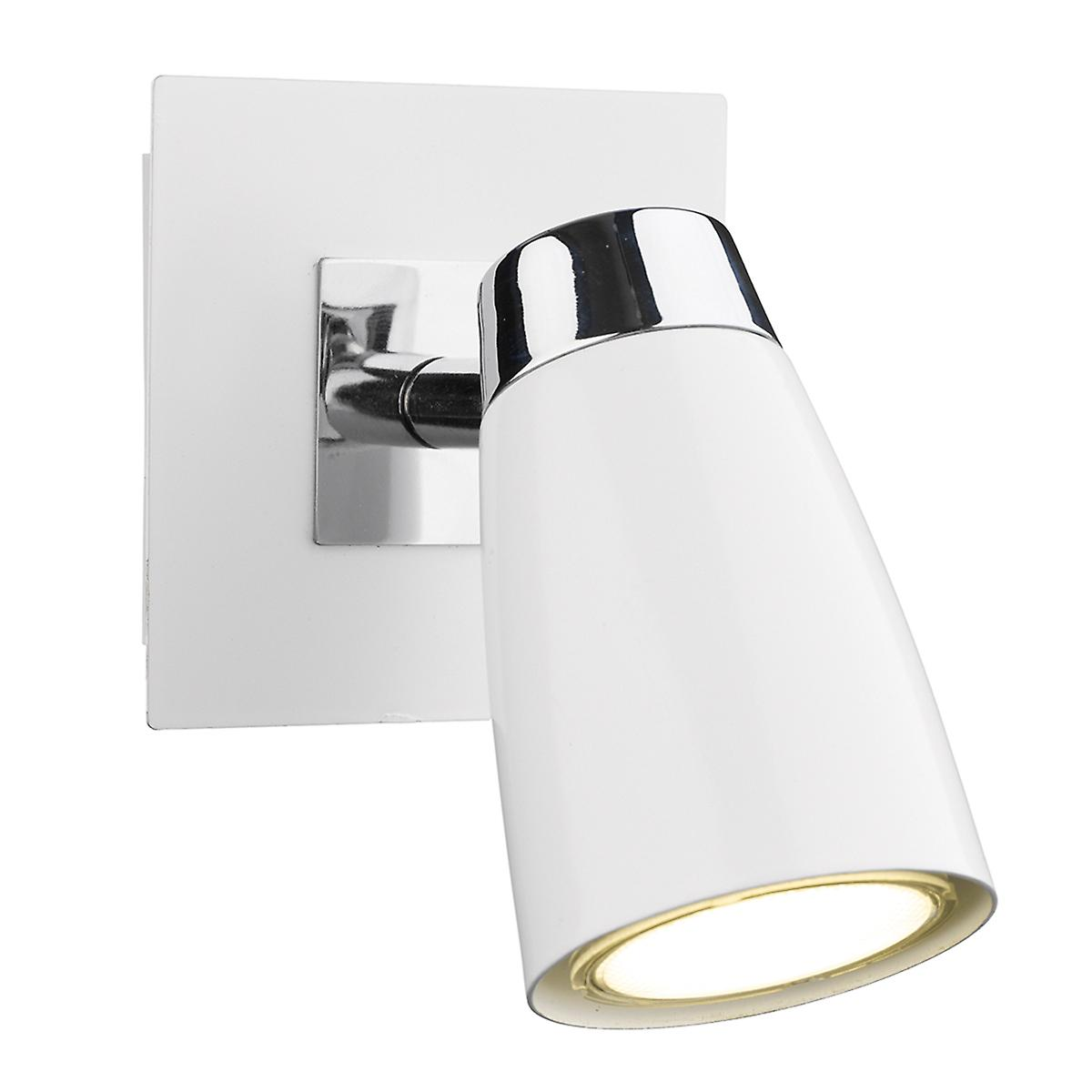 Dar LOF072 Loft Low Energy Switched Wall Spot Light - Double Insulated