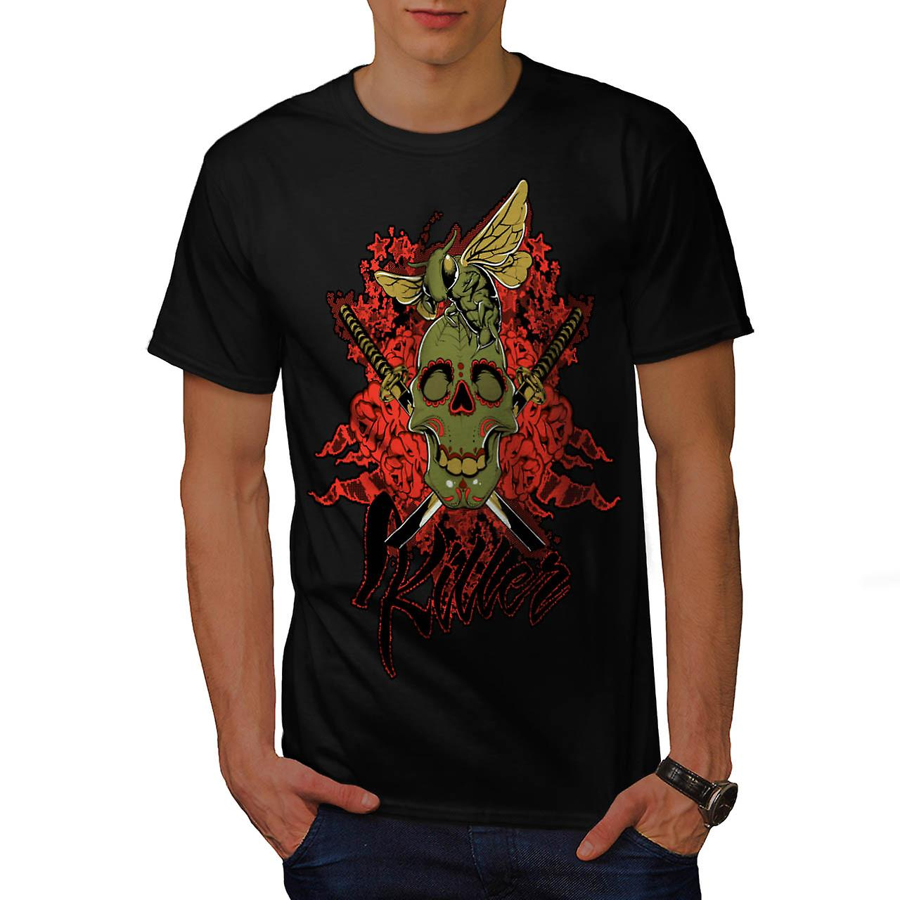 Killer Skull Wasp Bee Insect Fly Men Black T-shirt | Wellcoda