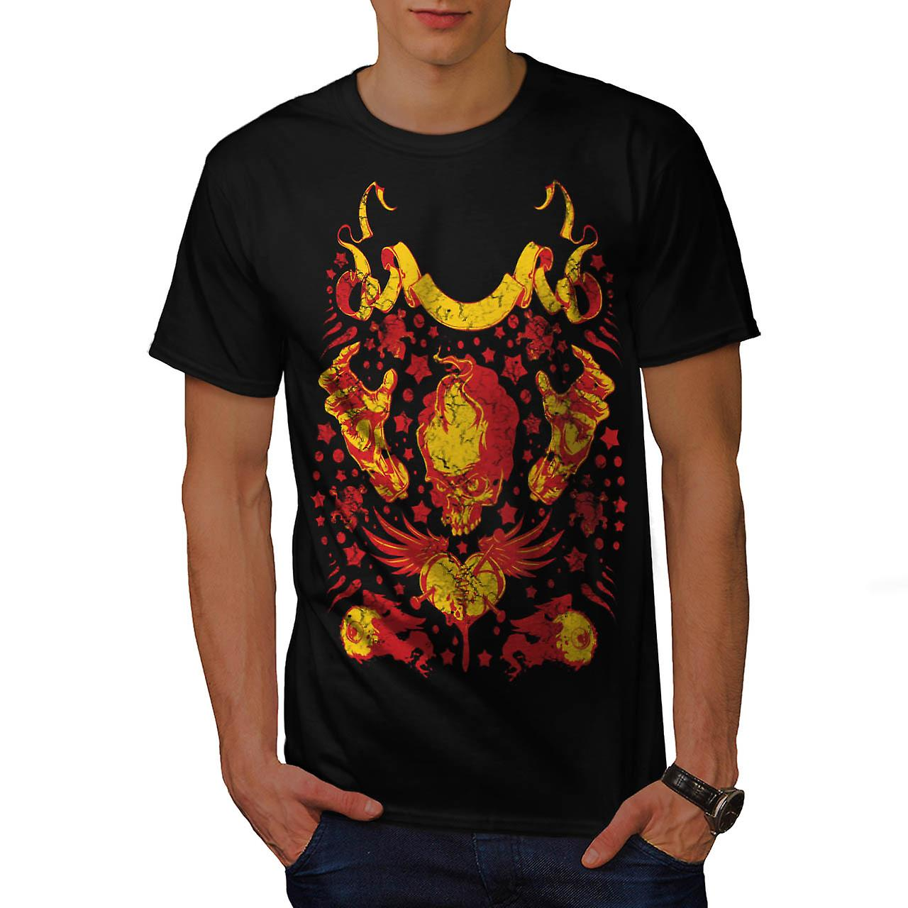 Devil Lair Raise Hell Fire Demon Men Black T-shirt | Wellcoda