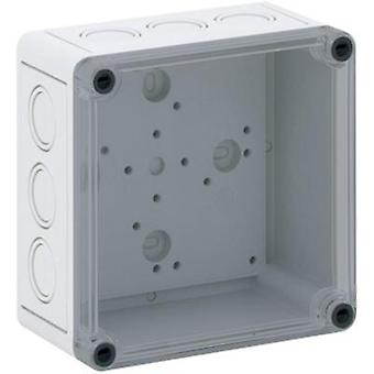 Build-in casing 130 x 130 x 75 Polycarbonate (PC) Light grey Sp