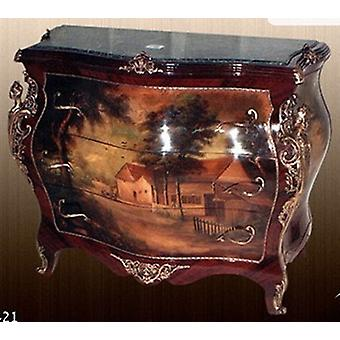 Baroque COMMODE with painting, antique style painting, image MoPa0421
