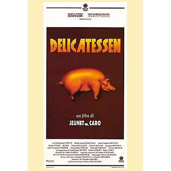 Impresión de póster de película delicatessen (27 x 40)