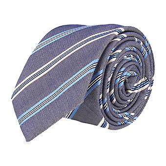 OTTO KERN narrow tie Club tie Navy Blue striped