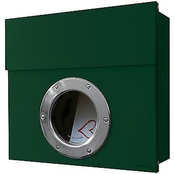 RADIUS Letterman 1 letterbox dark green with porthole 506o