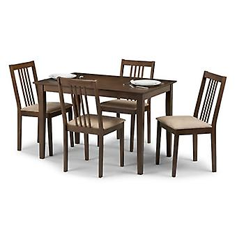 Naypon Extension Wood Dining Set Nutmeg Finish - Fully Assembled Chairs