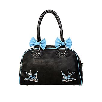 Forbudt blå svaler håndtaske