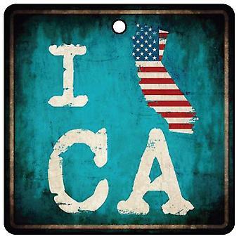 I Love California Golden State Car Air Freshener