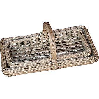 Set of 2 Lincolnshire Garden Trugs