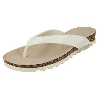 Dame bølger Mid kile Toepost Sandal