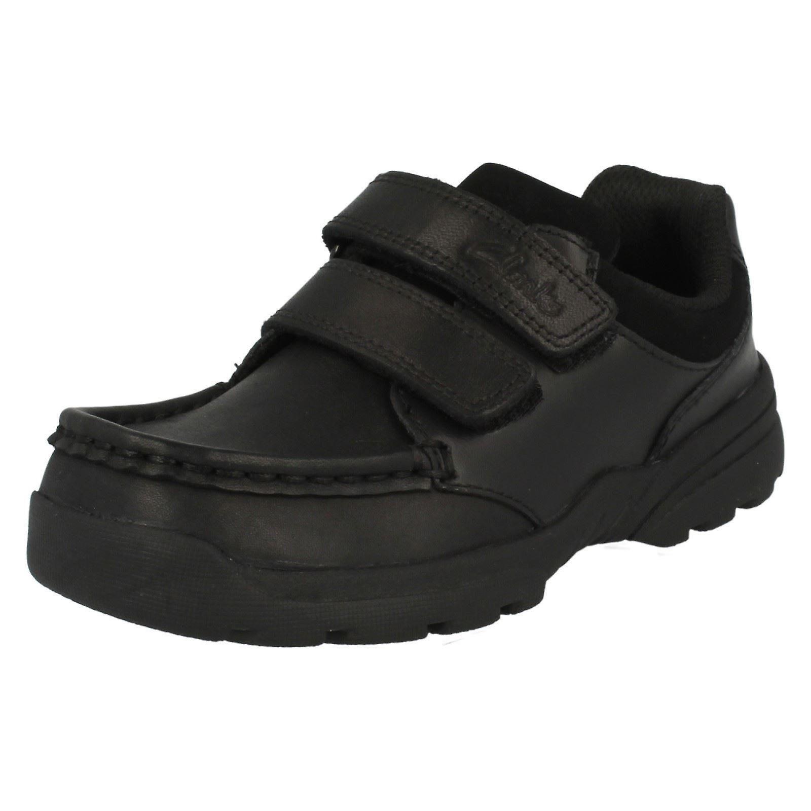 Boys Clarks Leather Shoes - Zayden Go Jnr