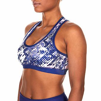 Venum Neo Camo Light Support Racerback Sports Bra - Navy Blue/Coral