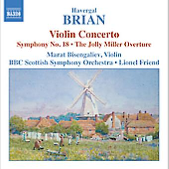 H. Brian - Havergal Brian: Violin Concerto; Symphony No. 8; the Jolly Miller Overture [CD] USA import