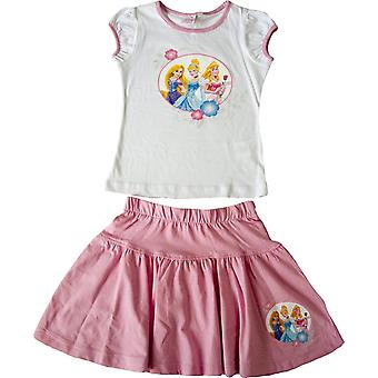 Girls Disney Princess Summer T-shirt and Skirt Set