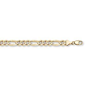 Correa con eslabones de Figaro oro de 14 K (8mm)