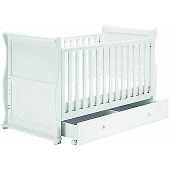 East Coast Nursery Alaska Sleigh Cotbed With Drawer White